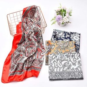 Satin Square Scarves Neck Hair Head Scarf 2 for 30